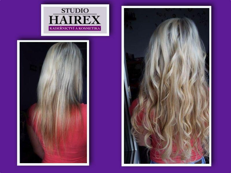 prodloužení vlasů Hairex