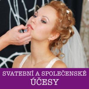 Svatební aspolečenské účesy Brno
