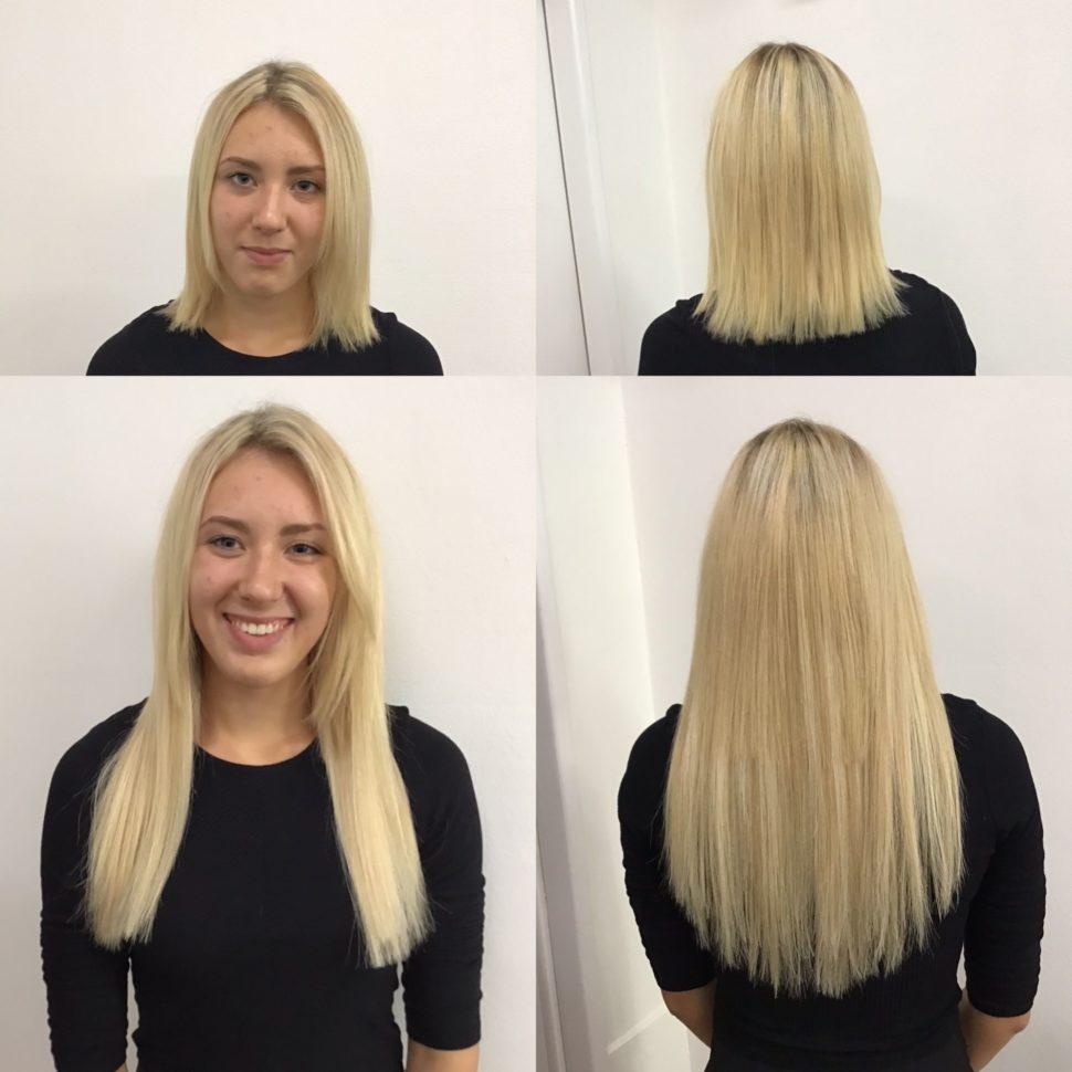 prodlužování vlasů Brno blond