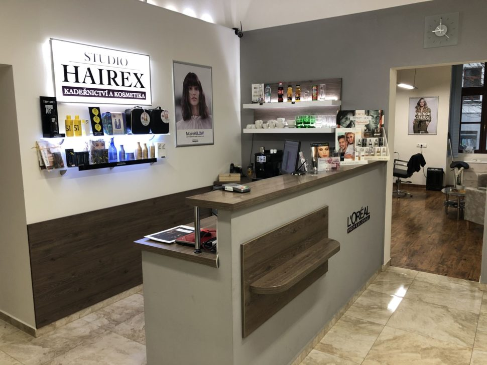 recepce studio Hairex