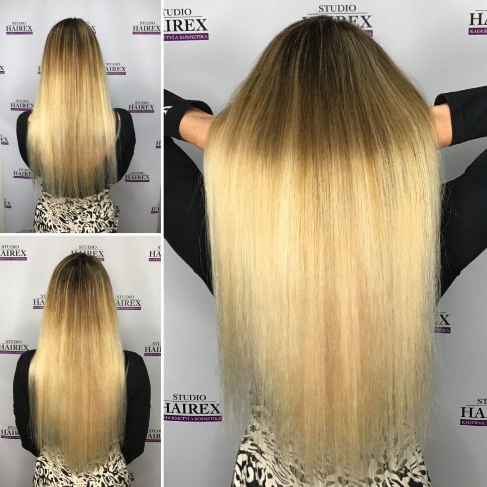 Prodloužení vlasů Hairex Seamless1 ombre