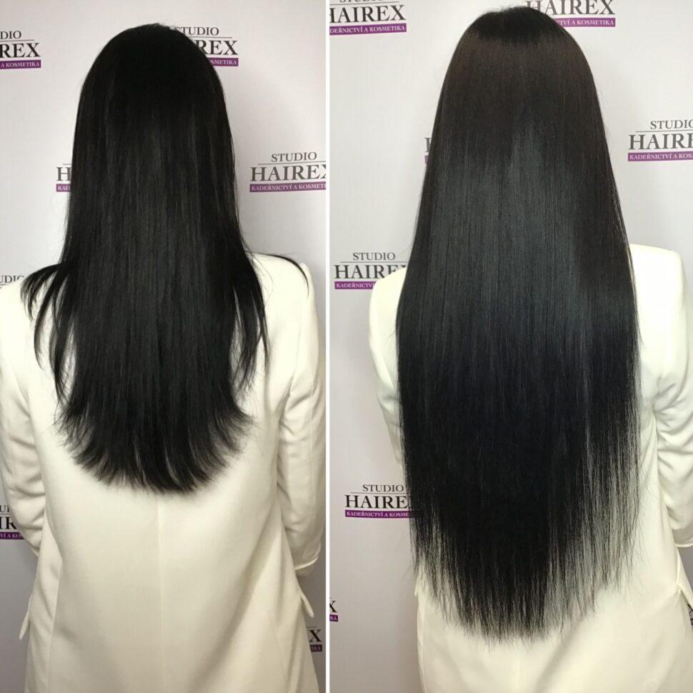 Prodloužení vlasů Hairex Black