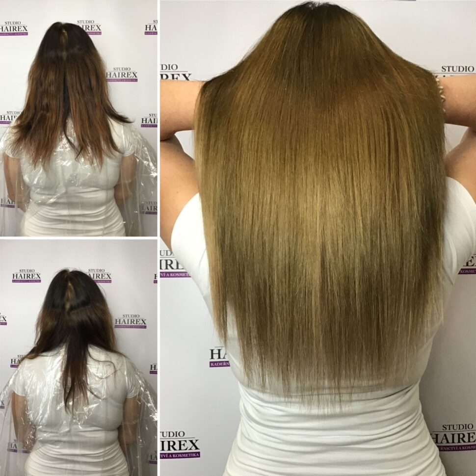Prodloužení vlasů Hairex Seamless1 brown